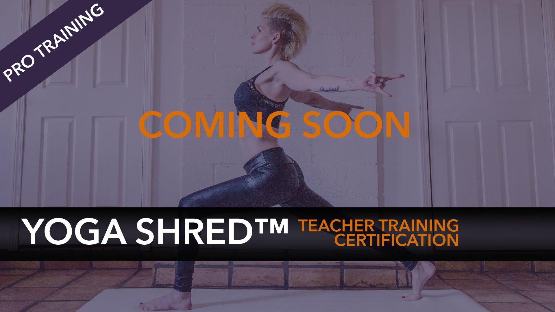 Yoga Shred Teacher Training Certification Notification